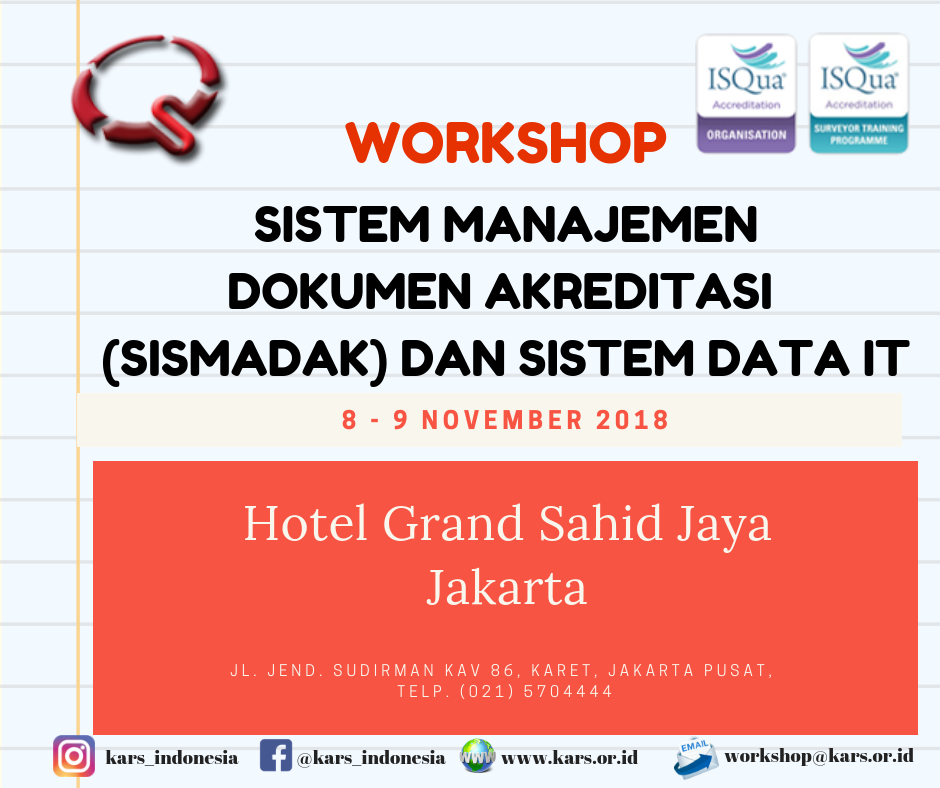 Workshop SISMADAK