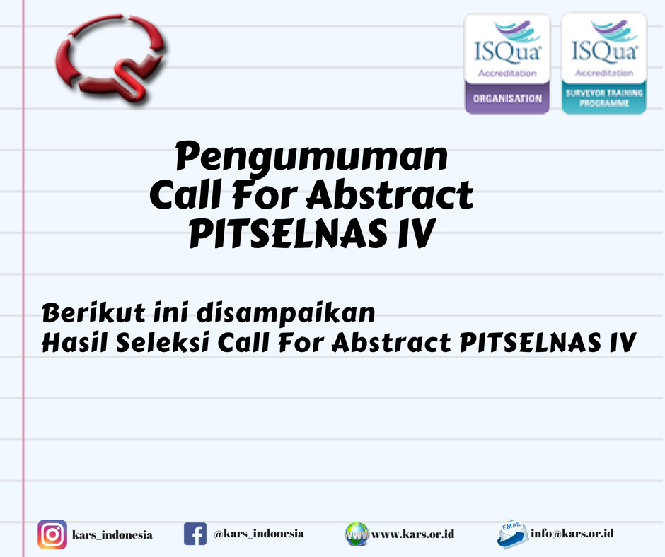 Pengumuman Seleksi Call For Abstract